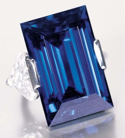 Rockafeler Sapphire set by Tiffany and &Co